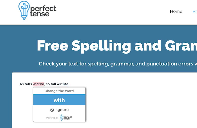 Free Spelling and Grammar Checker